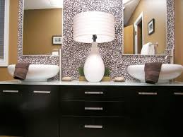 bathroom colors natural red accent wall beadboard warm black