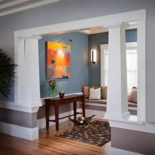 craftsman style interior columns livingroom u0026 bathroom