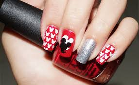 mickey mouse nails tutorial stamping youtube
