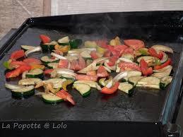 cuisine sur plancha légumes marinés cuisson à la plancha la popotte