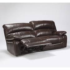 Ashley Sofa Leather by Ashley Furniture Damacio Leather Power Reclining Sofa In Dark