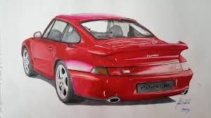 porsche red porsche 911 turbo 993 bekirselcuki draw to drive