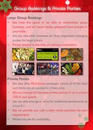 christmas u0026 new year u0027s eve 2015 menu brochure leicester shimla pinks
