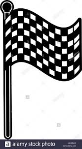 Checkered Flag Eps Checkered Flag Race Car Black And White Stock Photos U0026 Images Alamy