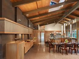 mid century kitchen design flooring epoxy flooring and wood paneling for walls in midcentury