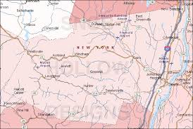 county map of ny greene county york color map