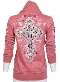 98 affliction rhinestones cross biker sinful hoodie sweatshirt