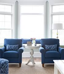 love blue couch and blue and brown striped pillows future dream
