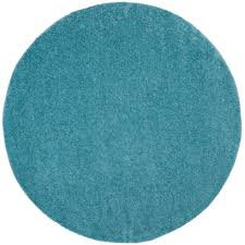Blue Fuzzy Rug Kas Rugs Great Fern Aqua 7 Ft 6 In X 7 Ft 6 In Round Area Rug