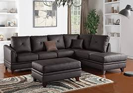 L Shaped Sectional Sofa With Chaise Amazon Com 1perfectchoice L Shaped Sectional Sofa Chaise Ottoman