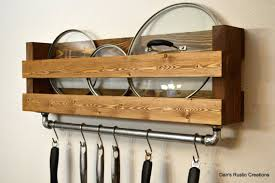 Kitchen Hanging Pot Rack by Add A Touch Of Country Style To Your Kitchen This Pot And Lid