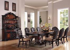 60400 le havre dining table in two tone brown by acme w options