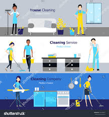 professional cleaning horizontal banners services companies stock