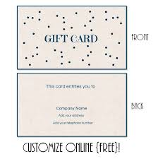 instant gift cards online free printable gift card templates that can be customized online