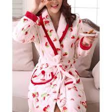 robe chambre polaire femme robe de chambre fantaisie fraises femme polaire achat chic robe