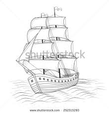 sailing ship stock vector 77808085 shutterstock