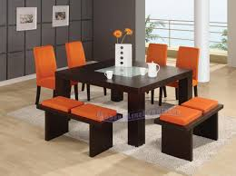 dining room tables with benches chairs table full size of 6pc