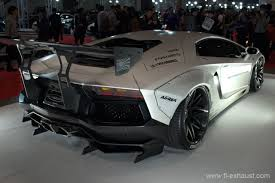 Lamborghini Aventador Exhaust - the back of matte white lamborghini aventador lp700 x liberty walk