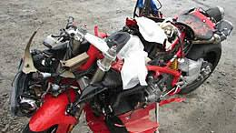crashed for sale for wrecked motorcycles