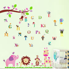 interactive alphabet elephant wall murals as wall decoration for interactive alphabet elephant wall murals as wall decoration for baby nursery room design with white wood baby box