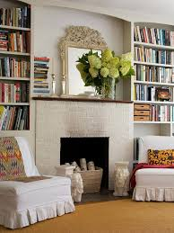 Fireplaces With Bookshelves by Bookcases Around Window Design Ideas
