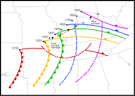 Illinois Toll Map by The Tri State Tornado Of 1925 U S Tornadoes