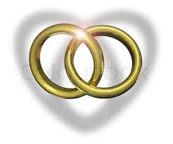 wedding rings together golden wedding rings linked together stock photo colourbox