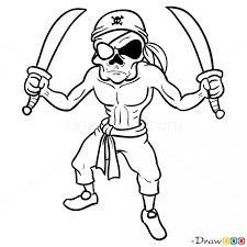 coloring draw pirates captain james hook jake