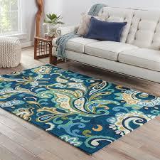 Outdoor Floor Rugs Winston Porter Breann Blue Indoor Outdoor Area Rug Reviews Wayfair