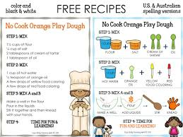 printable playdough recipes no cook orange play dough liz s early learning spot