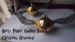 harry potter golden snitch christmas ornament tutorial youtube