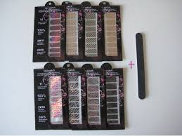 buy kiss nail artist metallic accents nail art appliques w various