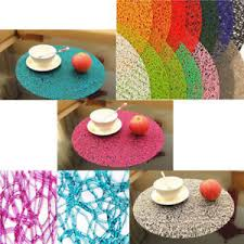large plastic table mats large round transparent crystal pads plastic placemat dining table
