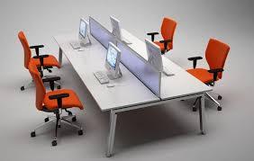 Warehouse Desks Elite Linnea 4 Person Double Bench Desk Package Office Furniture