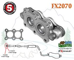 fx2070 direct fit exhaust flange flex repair pipe replacement kit