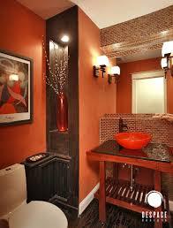 Orange Bathrooms Bathrooms Bedroom Glass Paint Ladder Book Pillow Wastafel Mirror