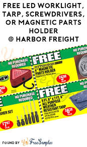 harbor freight light bar free led worklight tarp screwdrivers or magnetic parts holder at