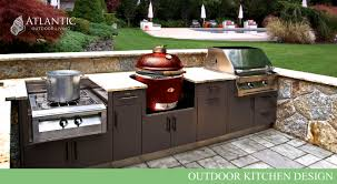kitchen ideas center outdoor kitchen design by atlantic outdoor living
