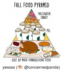 fall food pyramid psl tust so much thanksgiving food