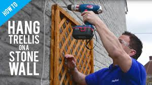 Trellis On How To Fix A Trellis On A Stone Or Brick Wall Youtube
