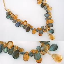 stone necklace designs images Gem stone necklaces citrine labradorite necklace designer jpg