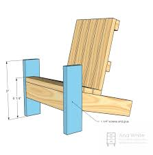 ana white fiona u0027s doll adirondack chair diy projects