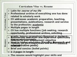 Cv Curriculum Vitae Vs Resume Curriculum Vitae Cv Vs Resume S Career And Training As Prepared