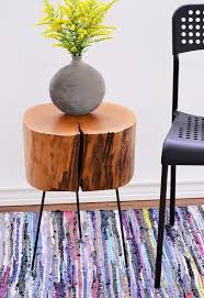 Wood Stump Coffee Table How To Make A Tree Stump Side Table With Diy Legs Hometalk