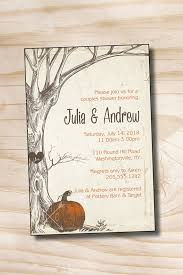 couples shower vintage tree fall pumpkin couples shower bridal shower invitation