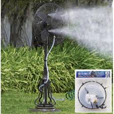 Patio Misters Outdoor Garden Patio Fan Water Misting Kit Walmart Com