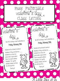 valentine u0027s day class letter