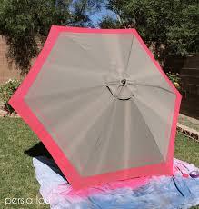 Paint Patio Umbrella Outdoor Umbrella Upgrade And Bbq Hop Lou