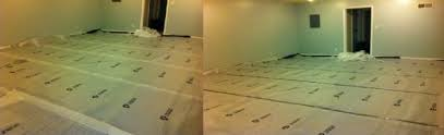 did i install underlay correctly for laminate flooring on concrete