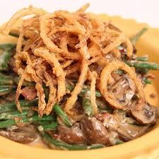 green bean casserole recipe in the kitchen